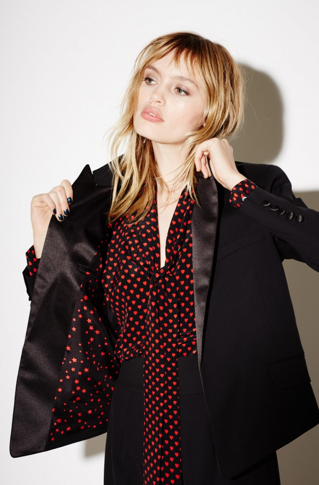 Tuxedo blazer equipment kate moss