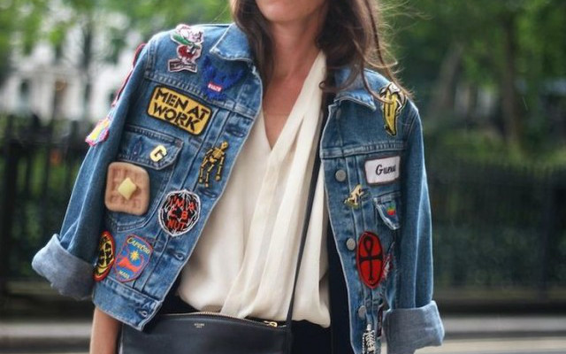 badged denim patches streetstyle blush london