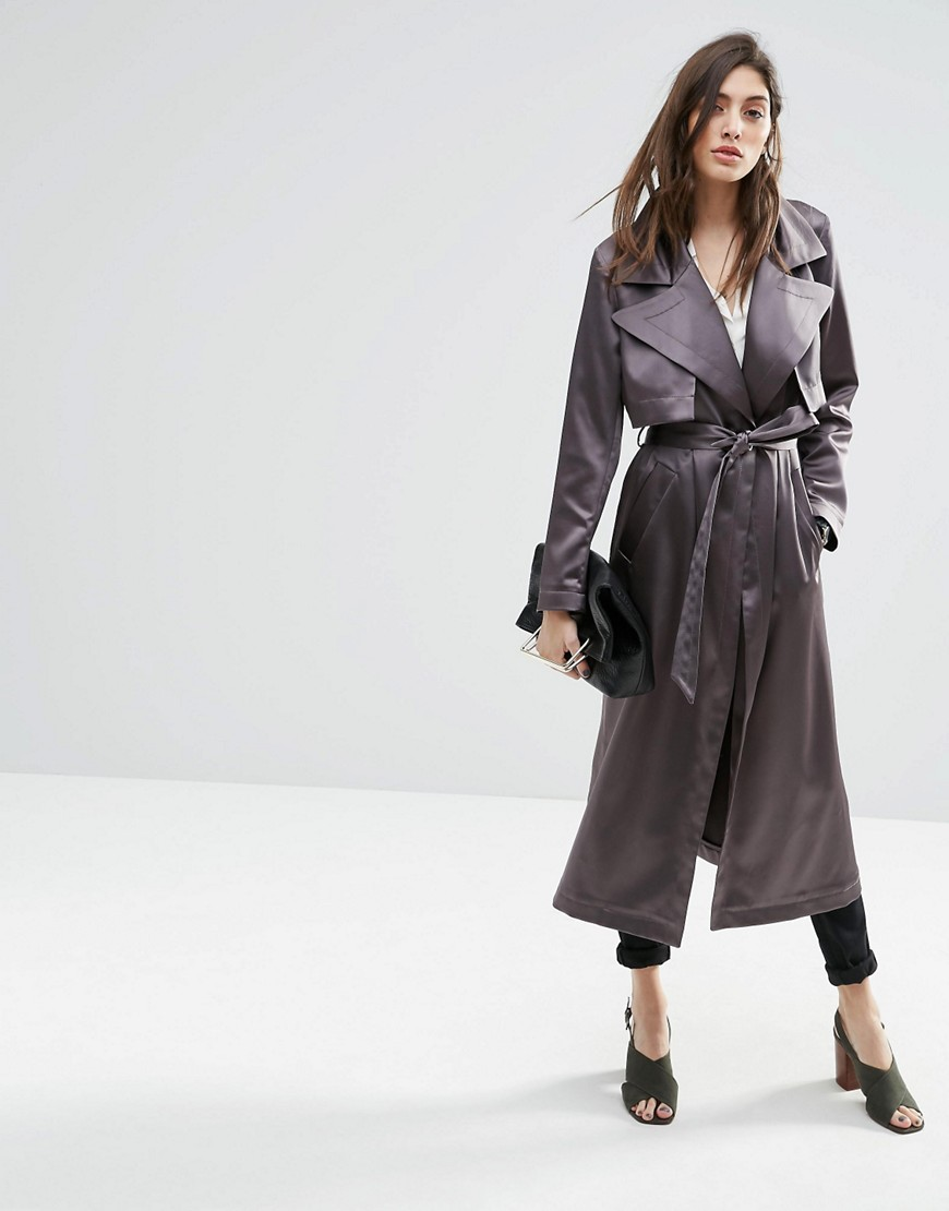 Asos Silky Trench coat evening jacket
