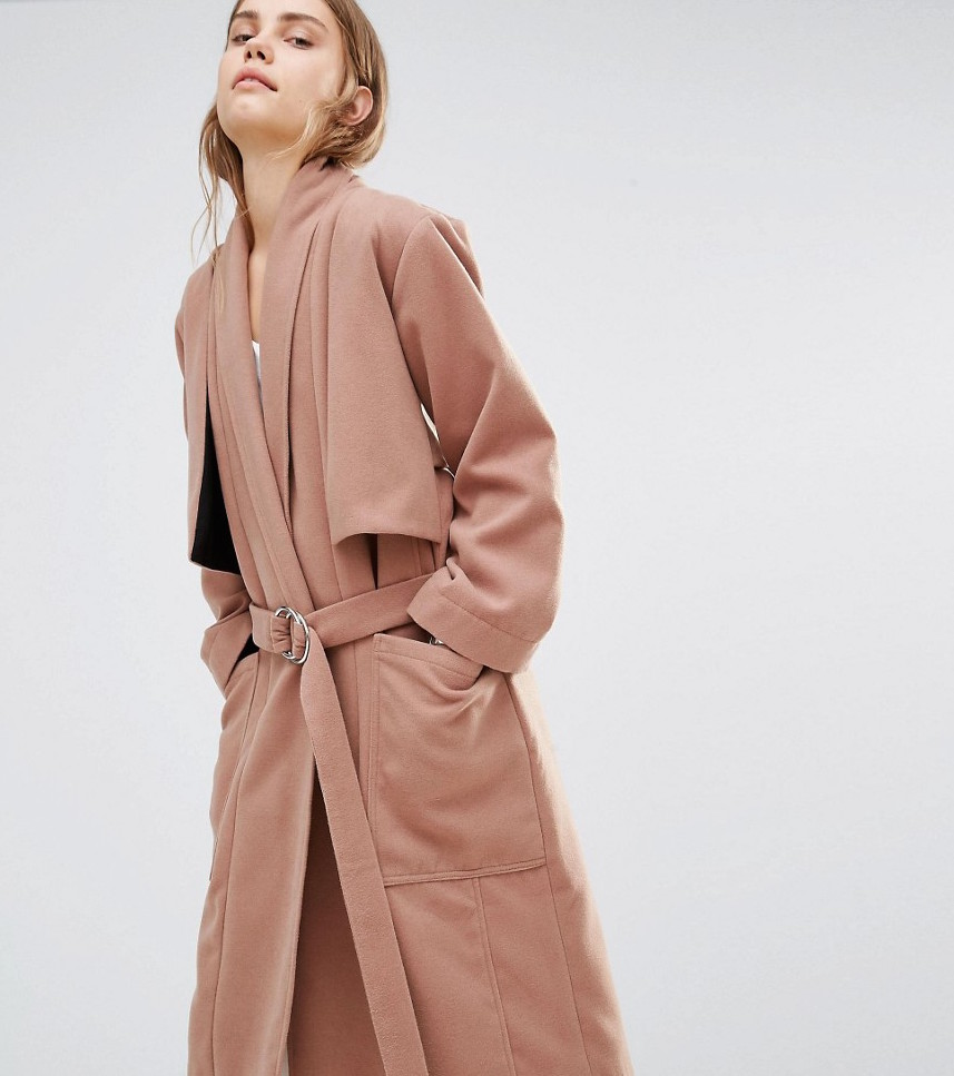 Blush Pink Trench Coat House of Sunny ASOS