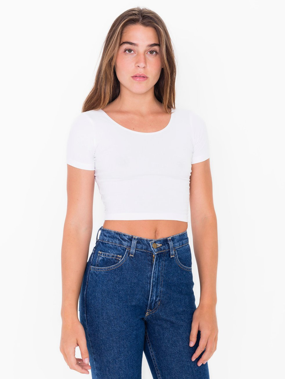 Clueless American apparel white spandex crop top