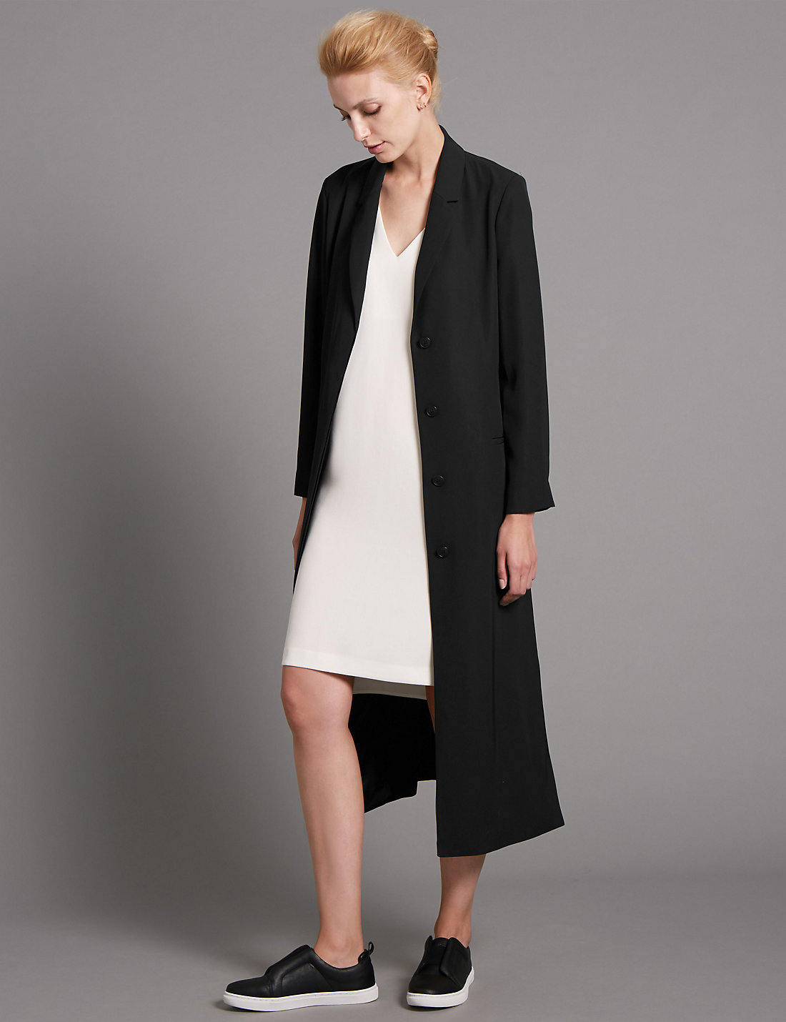 loose fit belted trench coat MArks & Spencer as seen in Vogue