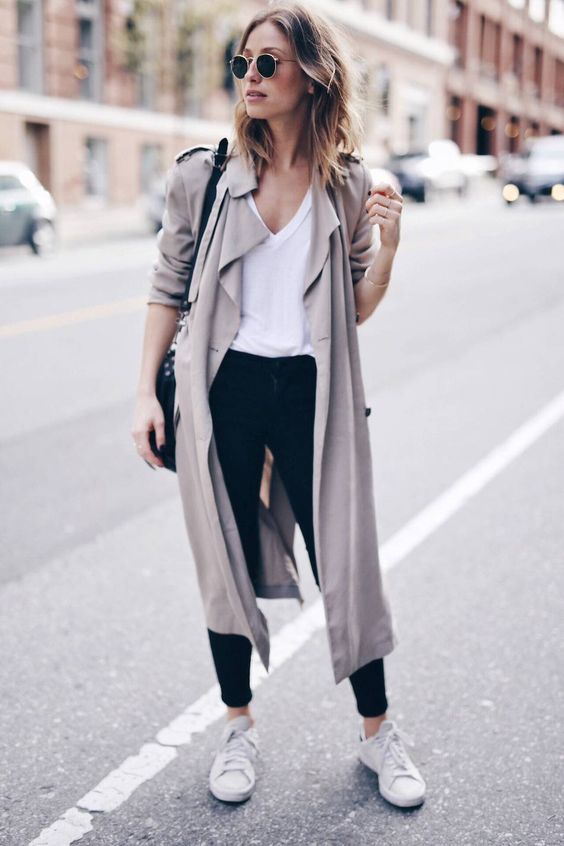 neutral coloured trench coat flowy buy