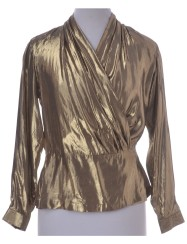 beyond-retro-gold-lame-top-blouse