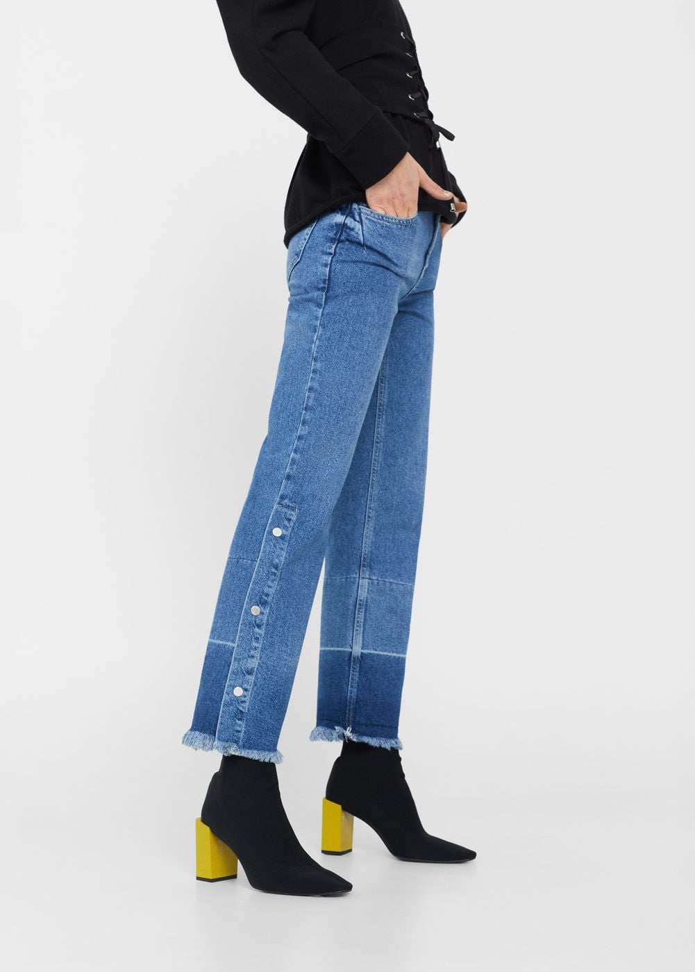 Flared Snap Jeans
