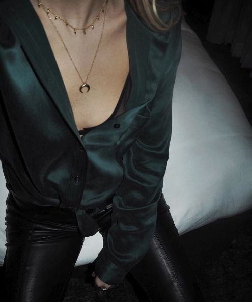 Silk and leather