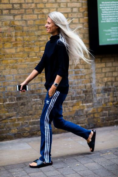 Sportswear outfits track bottoms