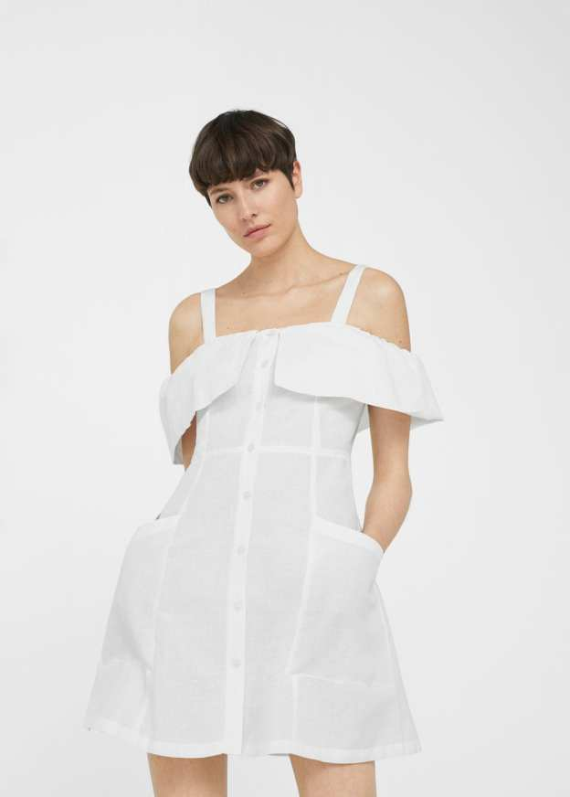 Off Shoulder white dress mango summer