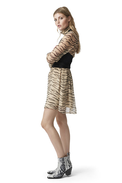 Sheer Zebra Whitman Dress Ganni