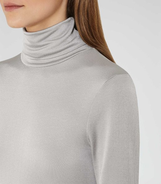 Brittany Polo Neck Silver