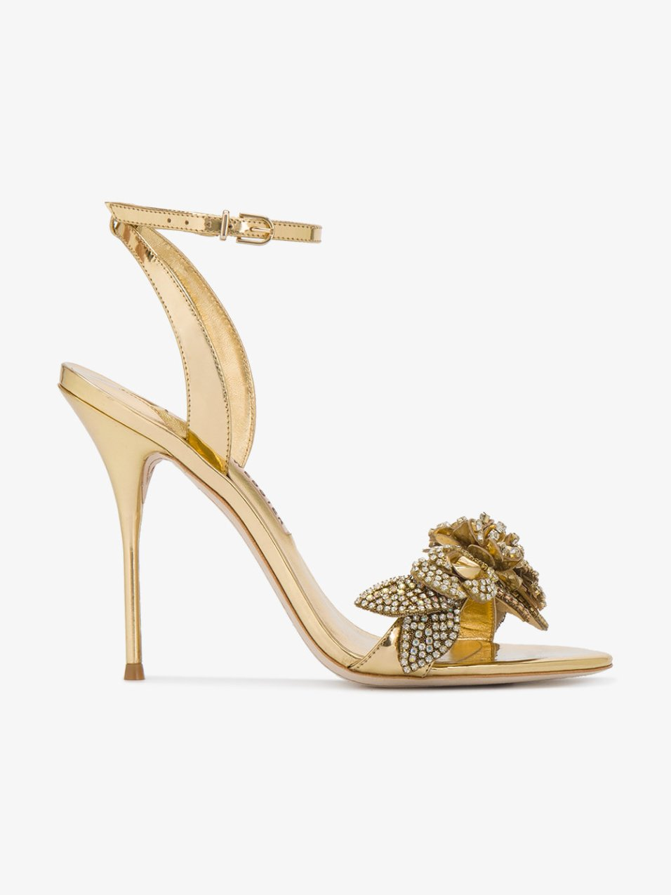 sophia webster heels gold