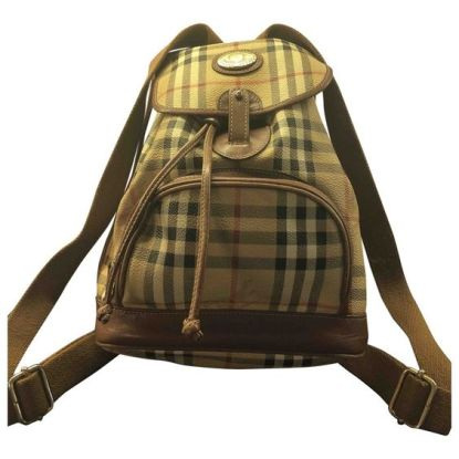 Burberry check backpack vintage