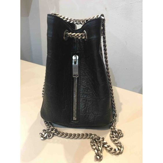 vintage YSL chain bucket bag mini black